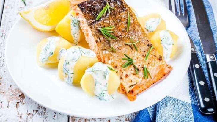 salmão com crosta
