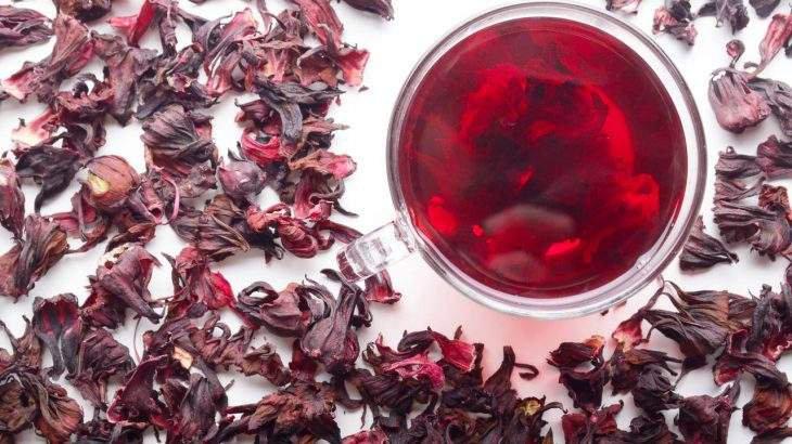 chá de hibisco para a pele