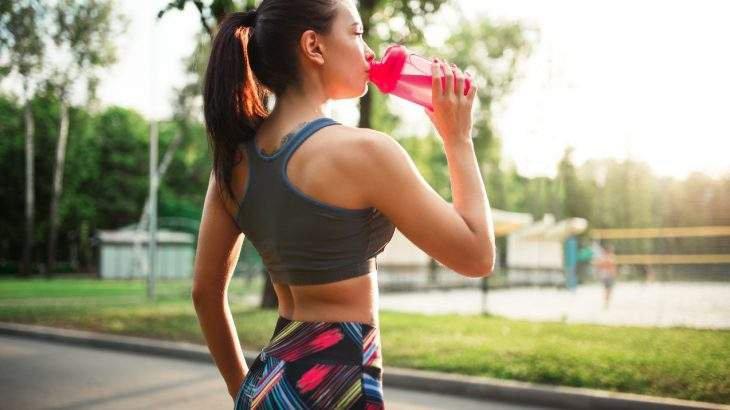 beber água durante o treino