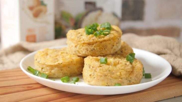 Muffin vegano de mandioquinha com quinoa