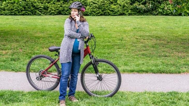 andar de bicicleta na gravidez